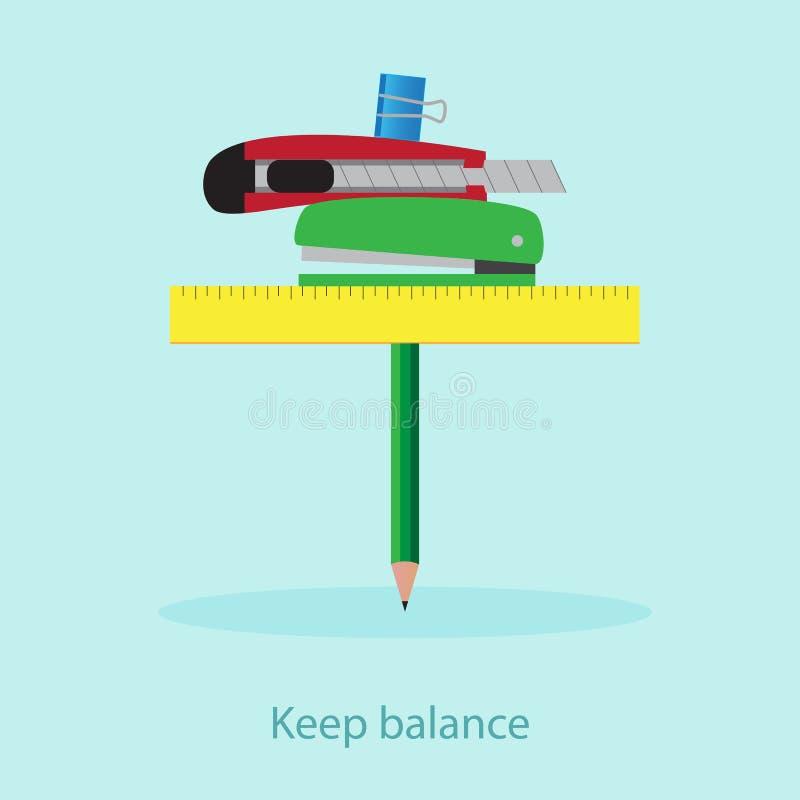 Balanza de la oficina de negocios ilustración del vector