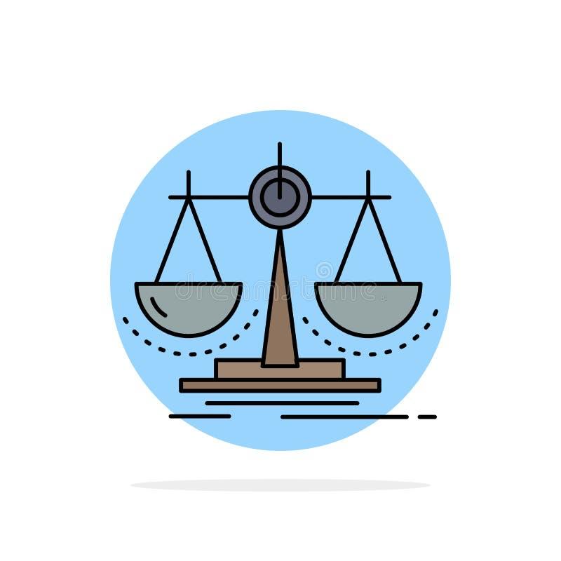 Balanza, decisión, justicia, ley, vector plano del icono del color de la escala ilustración del vector