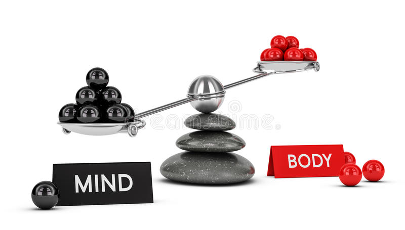 Balanza del cuerpo y de la mente libre illustration