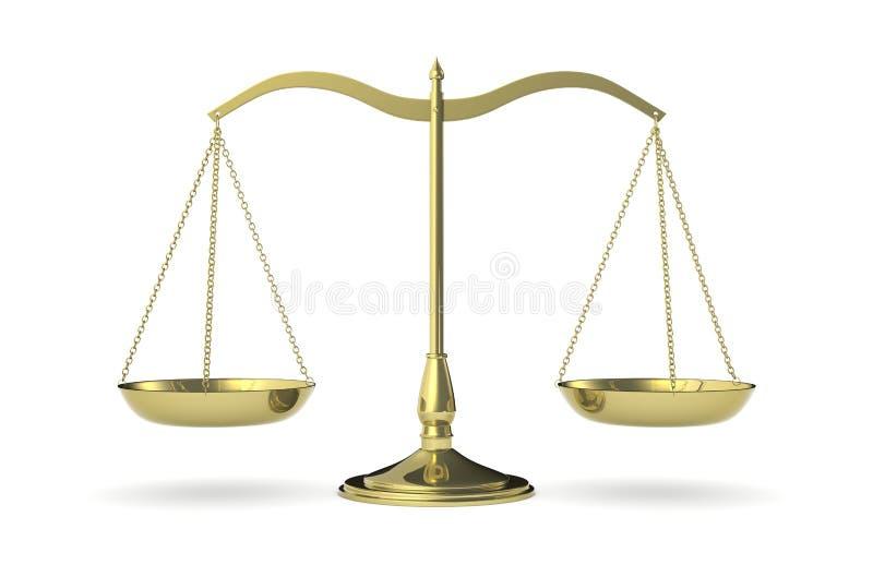 Balanza del peso stock de ilustración
