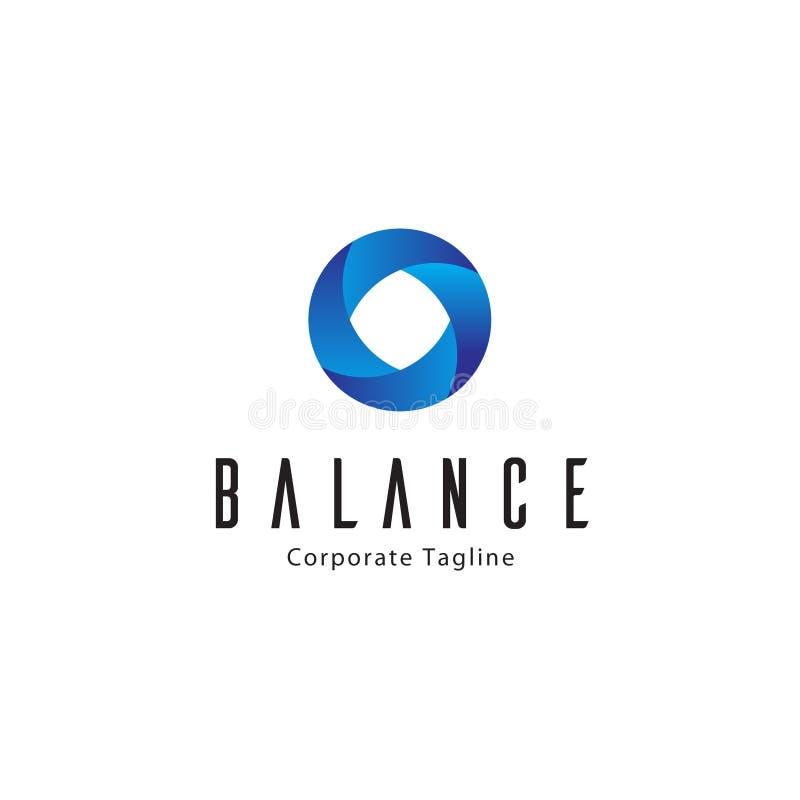 Balanza Logo Template stock de ilustración