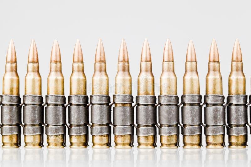balas de projétil luminoso da OTAN de 5.56x45mm foto de stock royalty free