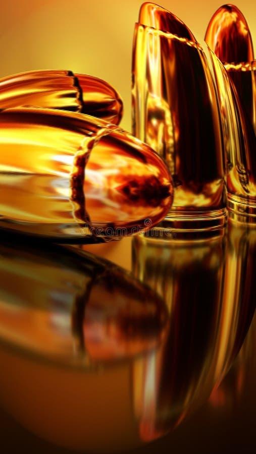Balas douradas imagem de stock