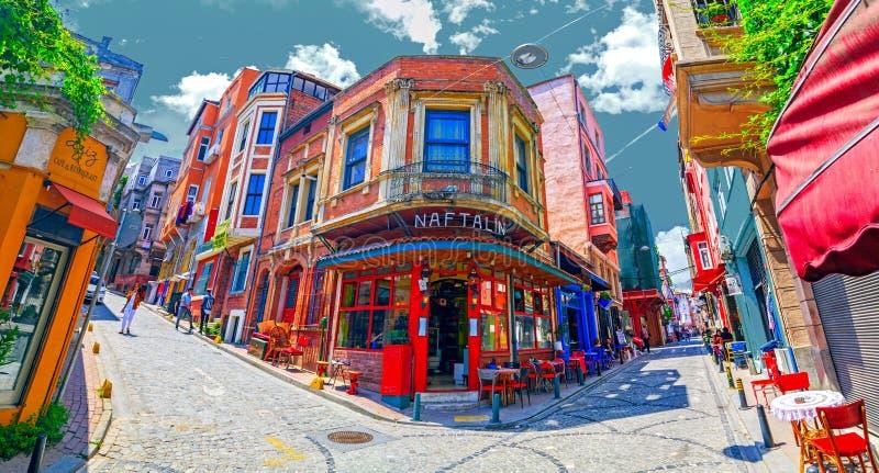 Balat区,伊斯坦布尔,土耳其 库存图片