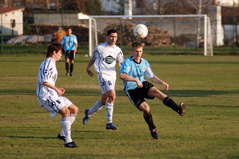Balatolelle Fußballspiel stockfoto