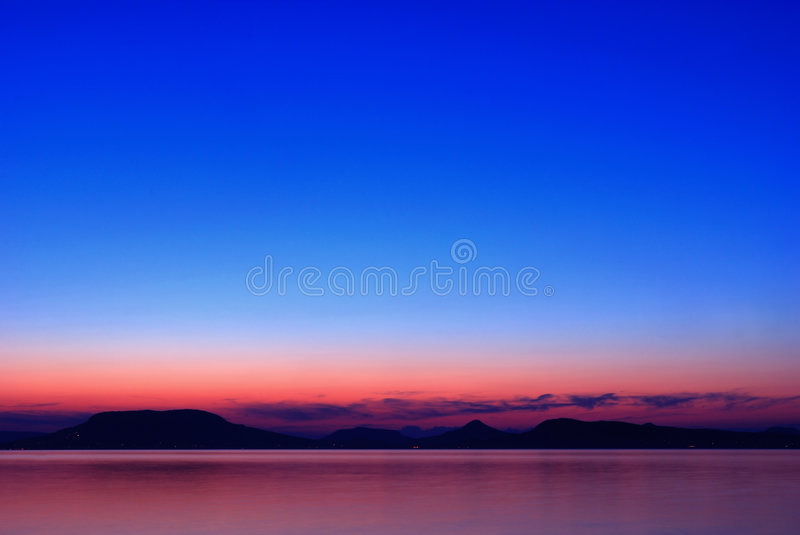 balaton σούρουπο λιμνών στοκ εικόνες με δικαίωμα ελεύθερης χρήσης