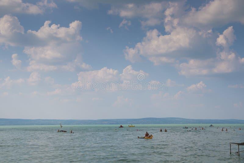 Balaton in de zomer royalty-vrije stock afbeeldingen