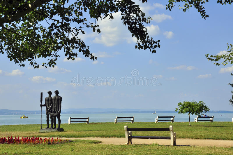Balaton lake stock image