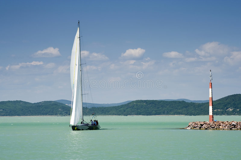 Balaton lake series 12. stock photos