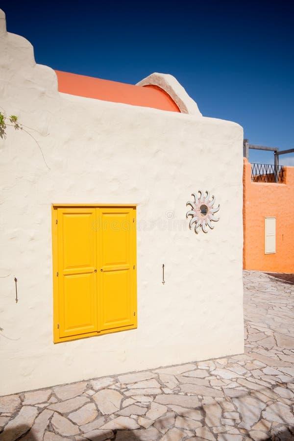 balatonfured五颜六色的房子 免版税库存照片