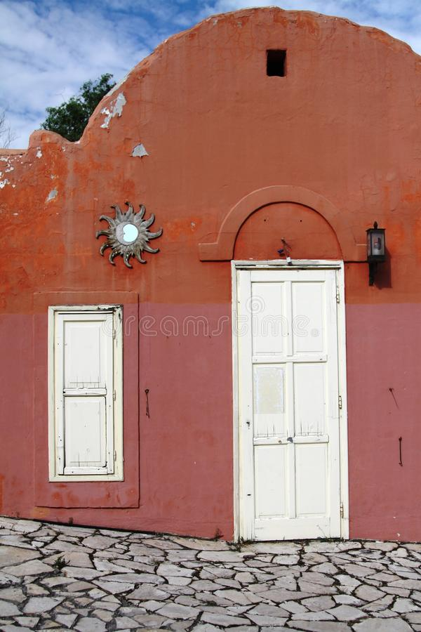balatonfured五颜六色的房子 免版税库存图片