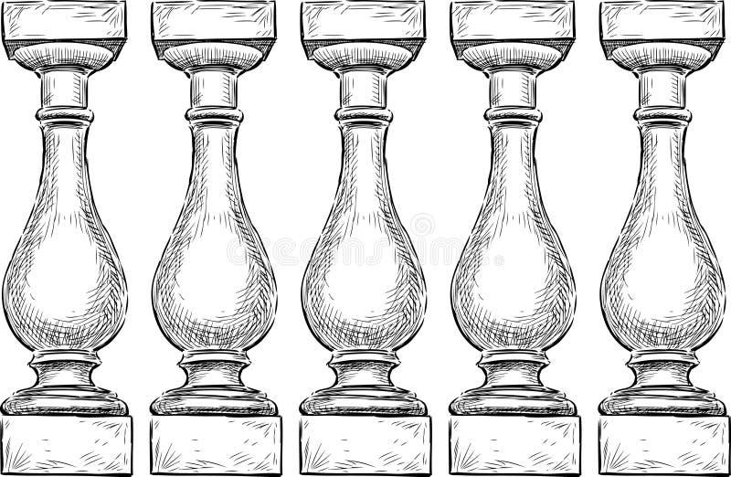 Balaustrada ilustração do vetor