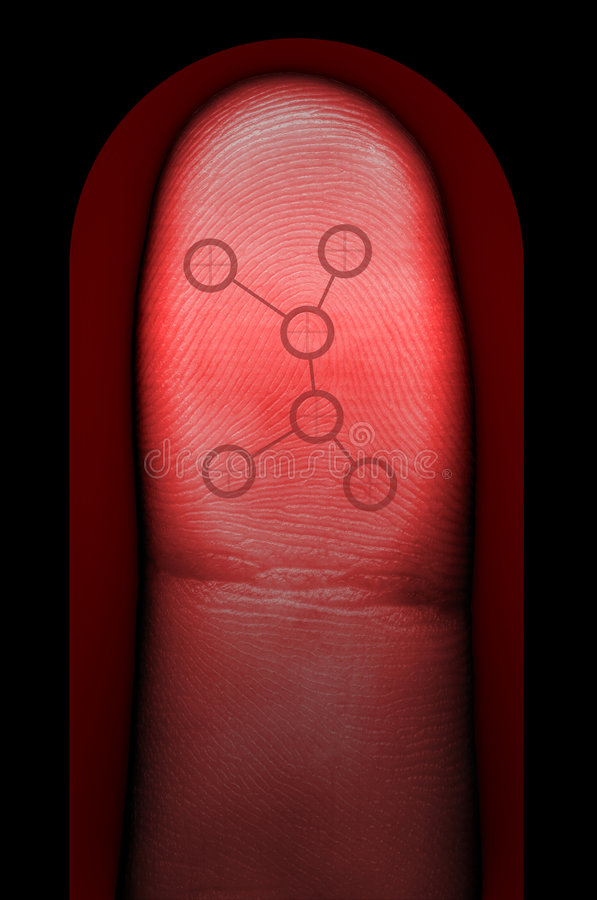 Balayage biométrique d'empreinte digitale image stock