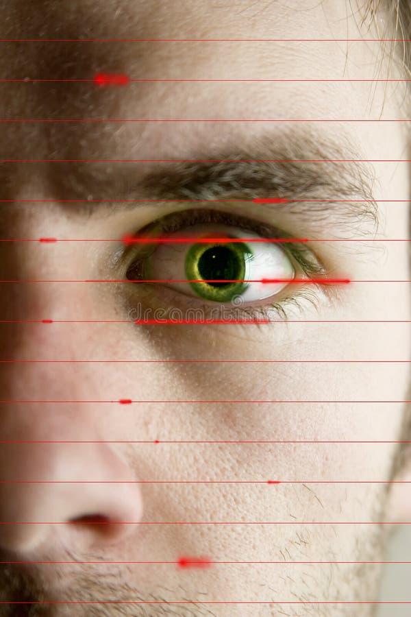 Balayage d'iris images libres de droits