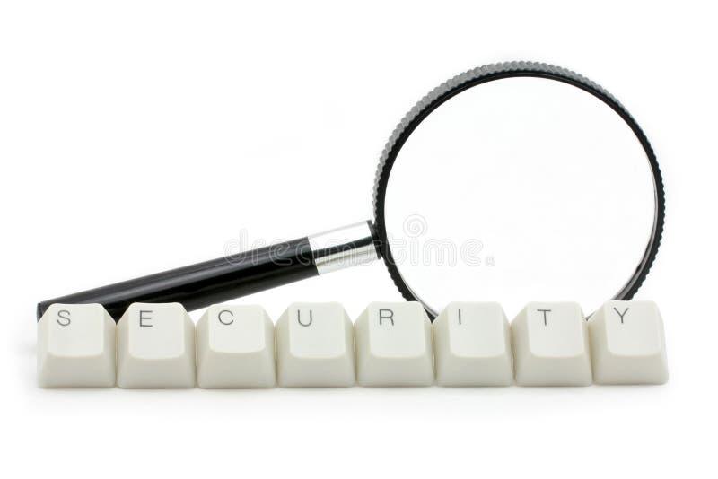 Balayage de degré de sécurité d'ordinateur photographie stock libre de droits