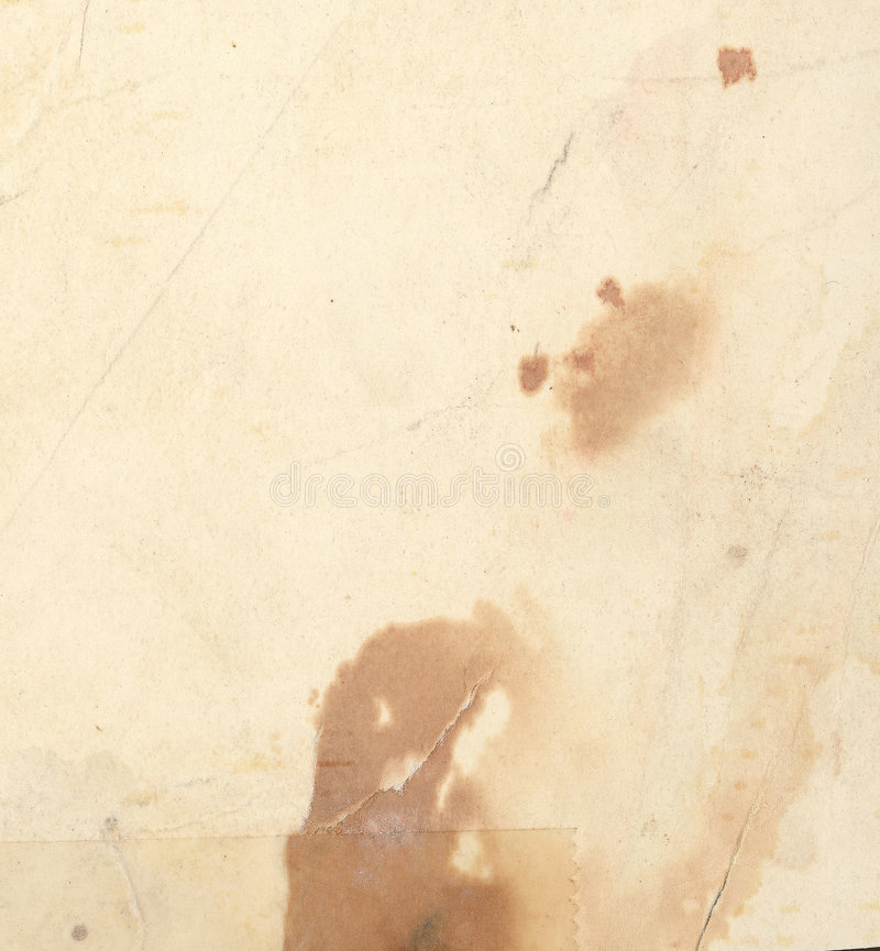 Balayage de papier âgé image libre de droits