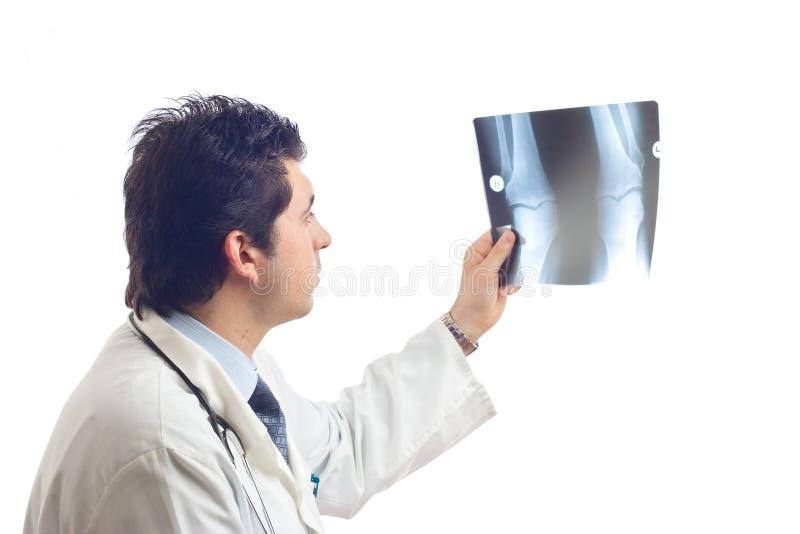 Balayages de examen de rayon X de docteur image stock