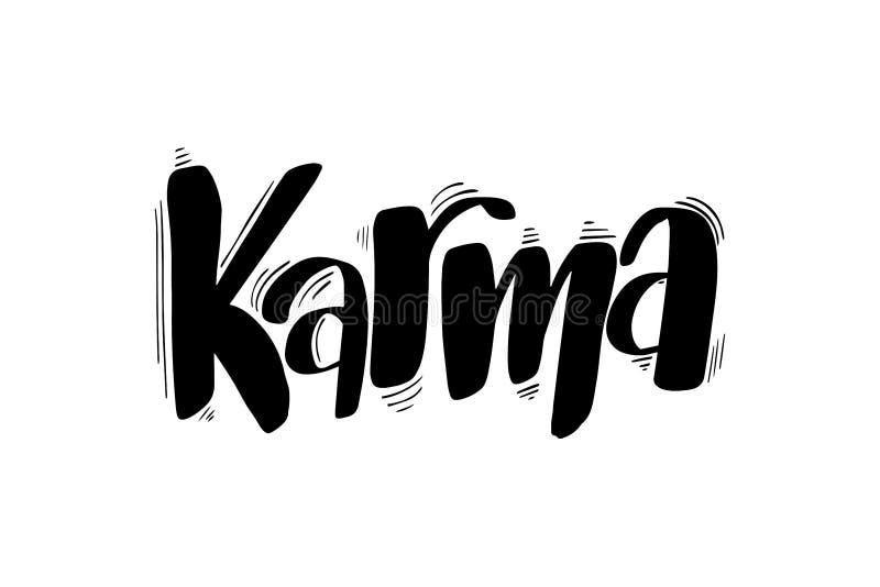 Balayez marquer avec des lettres le karma illustration libre de droits