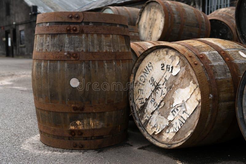 Balblair scotch whisky destylarnia, Szkocja obrazy royalty free