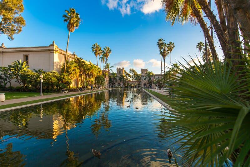 Balboa park Odbija basenu fotografia stock
