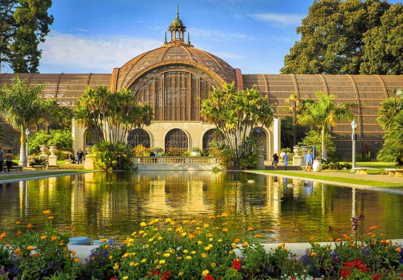 Balboa Park, San Diego, Botanical Building stock photos