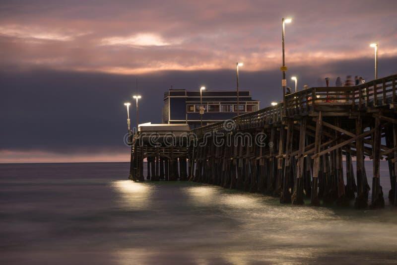 Balboa Pier Newport Beach stockbild