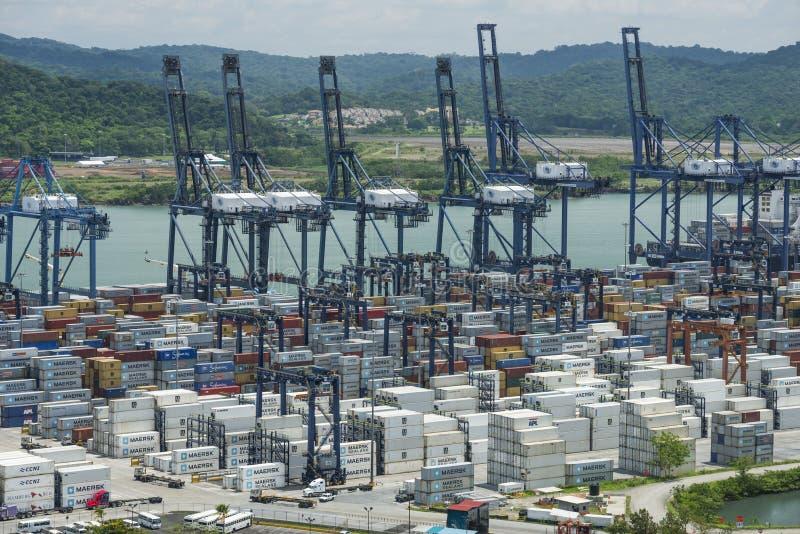 Balboa port container terminal stock photos