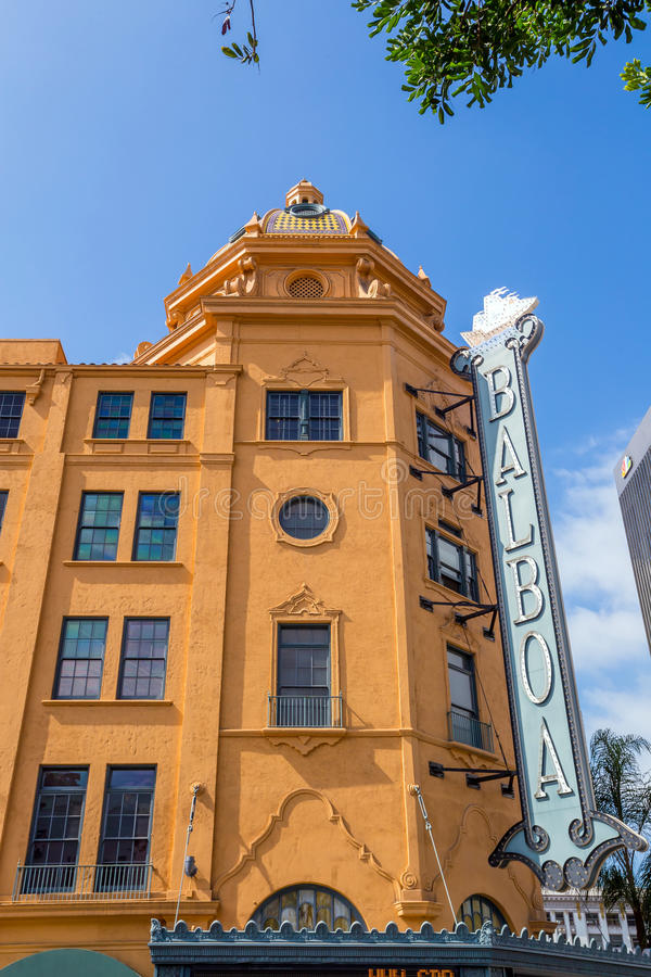 Balboa Theatre in San Diego royalty free stock image