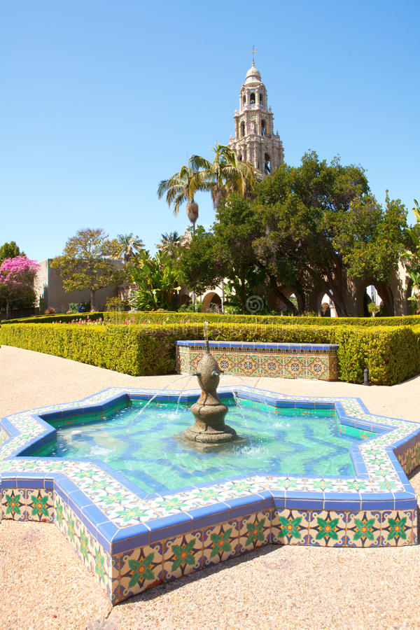 Balboapark in San Diego California royalty-vrije stock foto