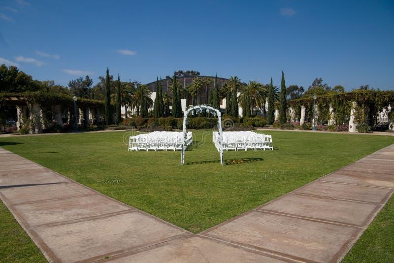 balboaparkbröllop arkivbilder