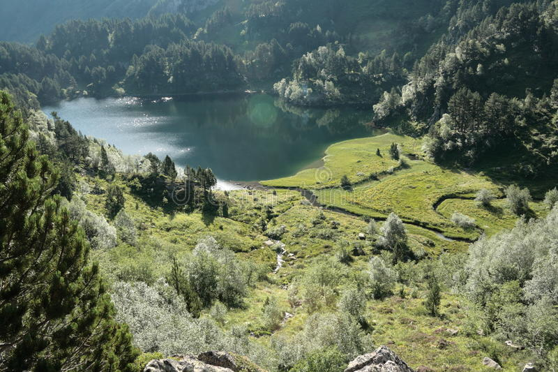 Download Balbonne lake in Pyrenees stock image. Image of outdoor - 28422191