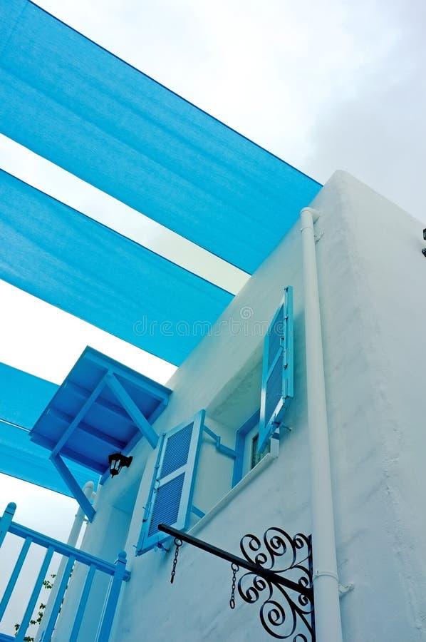 Balcão azul imagem de stock