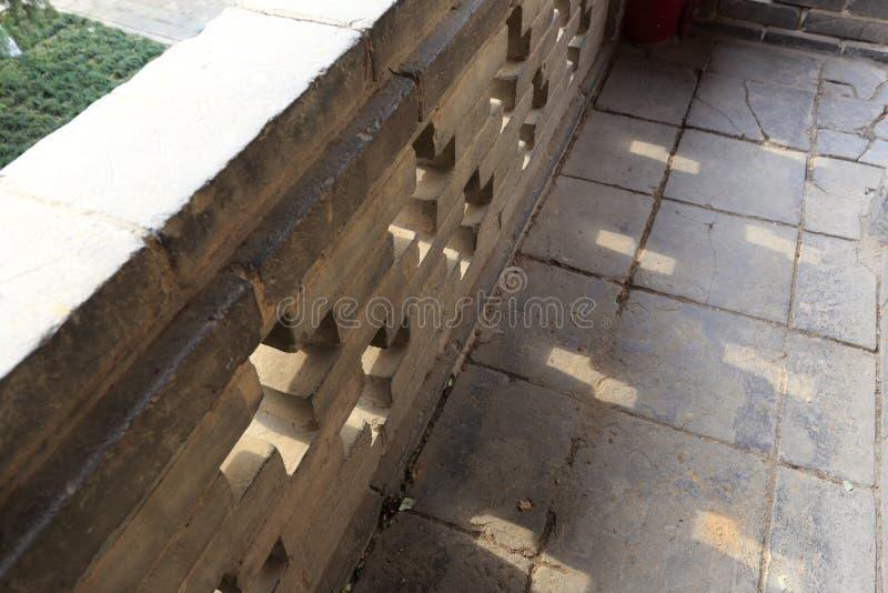 Balcão chinês da pedra da dinastia de espiga, adôbe rgb foto de stock