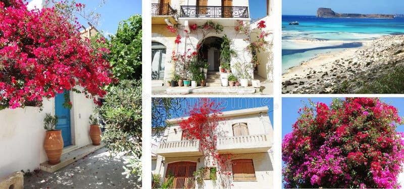 Balcão da construção do hotel de luxo e santorini Grécia do terraço fotos de stock