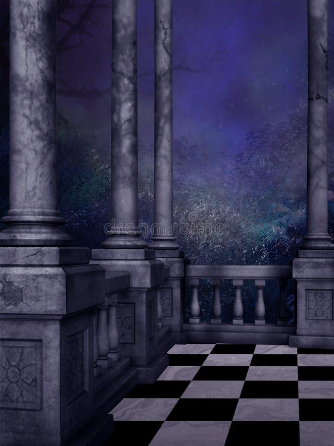 Balcão de acalmação da noite ilustração royalty free