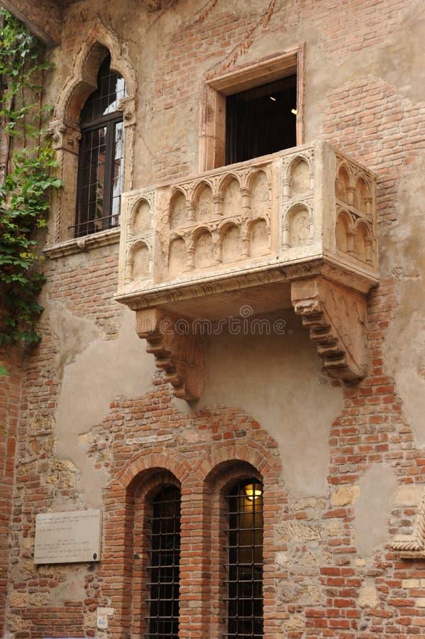 Balcão de Juliet em Verona foto de stock royalty free