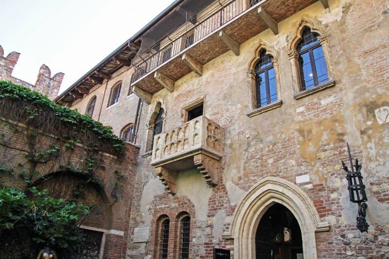 Balcão de Juliet em Verona Italy fotografia de stock