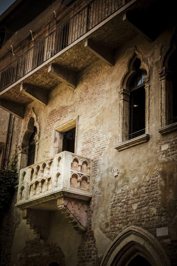 Balcão de Juliet, Verona, Italy foto de stock