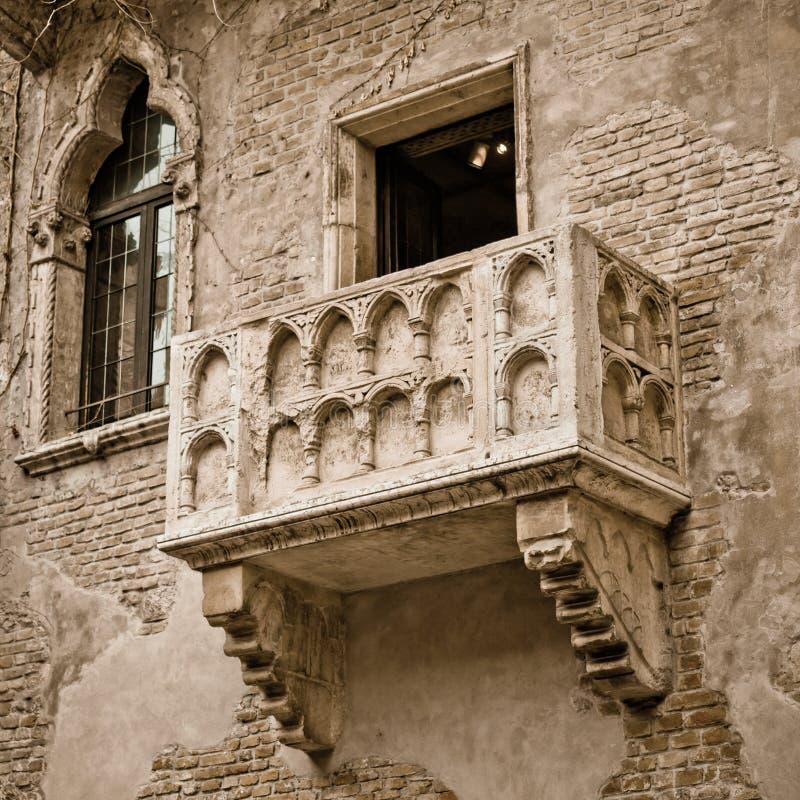 Balcão de Romeo e de Juliet imagem de stock
