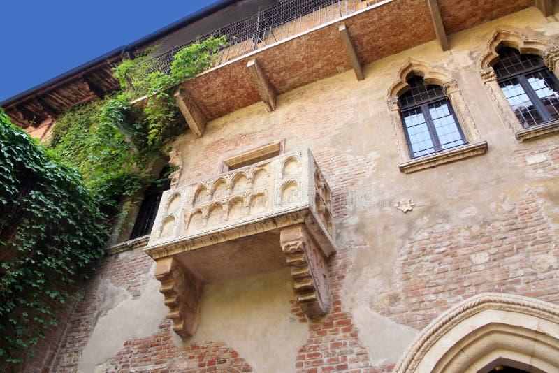 Balcão de Romeo e de Juliet fotografia de stock