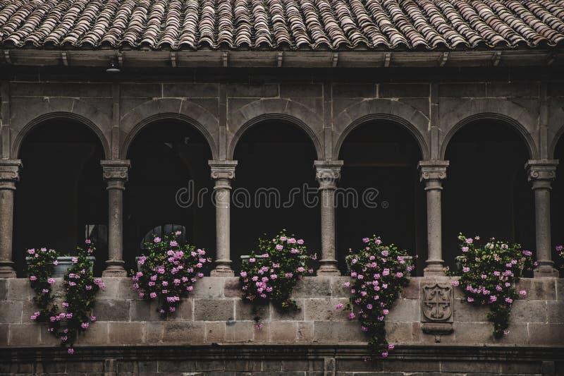 Balcão em Coricancha/Cusco foto de stock royalty free