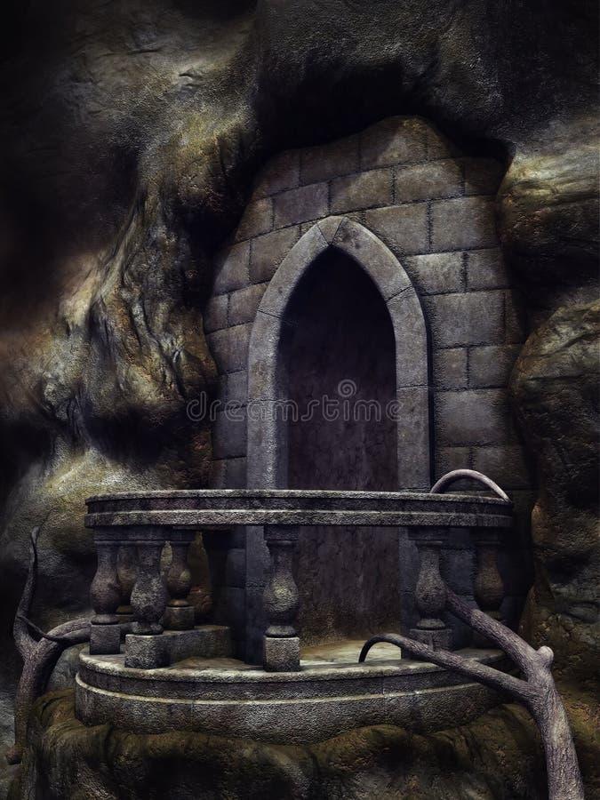 Balcão gótico ilustração do vetor