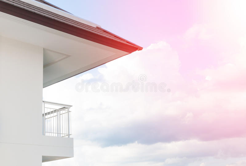 Balcão moderno do apartamento foto de stock royalty free