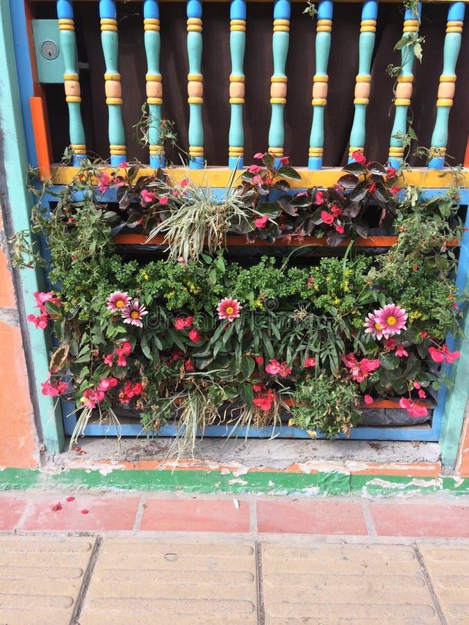 Balcón colorido imagen de archivo libre de regalías
