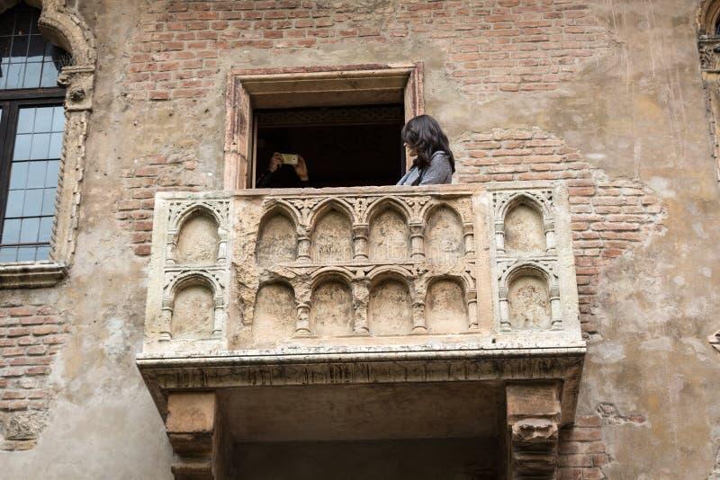Balcón de Juliet en Verona imágenes de archivo libres de regalías