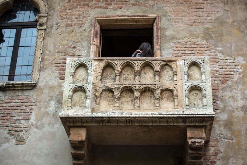Balcón de Juliet en Verona fotos de archivo libres de regalías