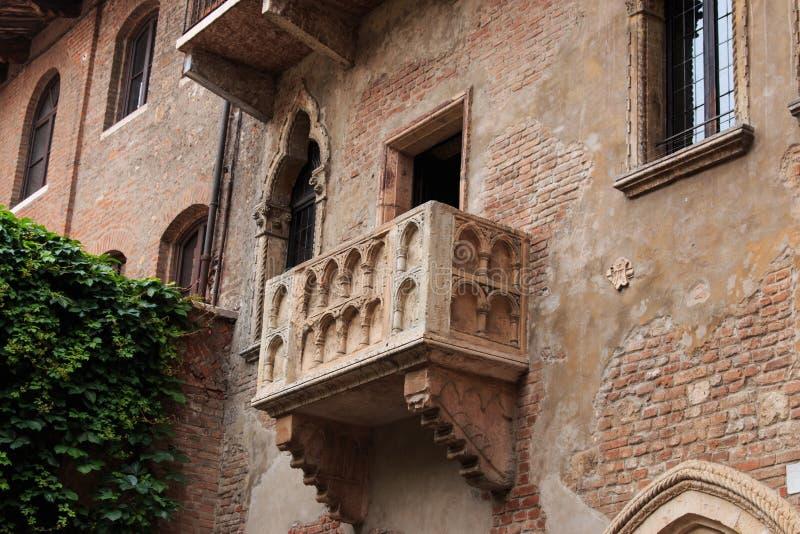 Balcón de Juliet - Verona en Italia imagen de archivo libre de regalías