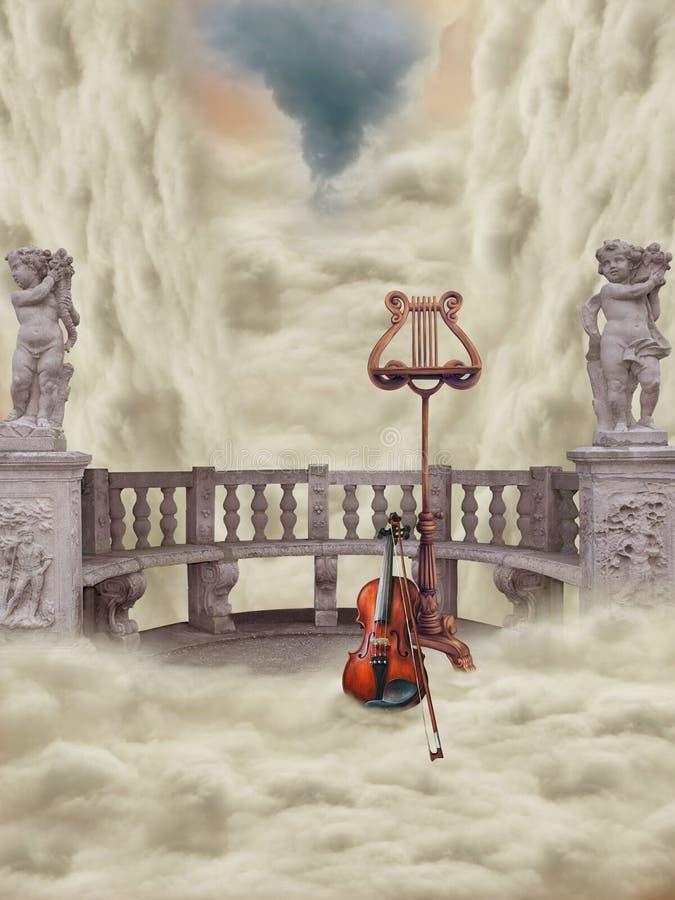Balcón de la fantasía ilustración del vector