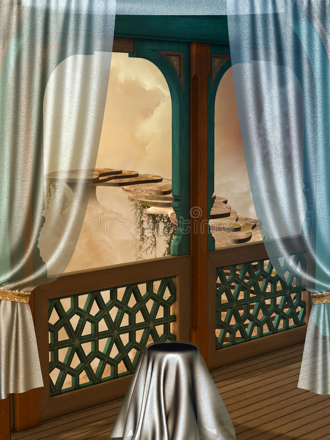 Balcón de la fantasía libre illustration