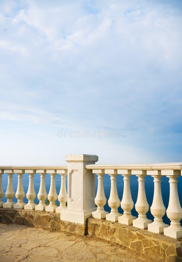 Balcón de piedra fotos de archivo